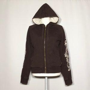NWOT Brown Prana zip up hoodie size medium